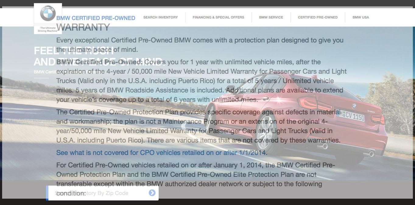 Bmw Cpo Warranty >> Bmw Cpo Warranty Reduced To 1 Year