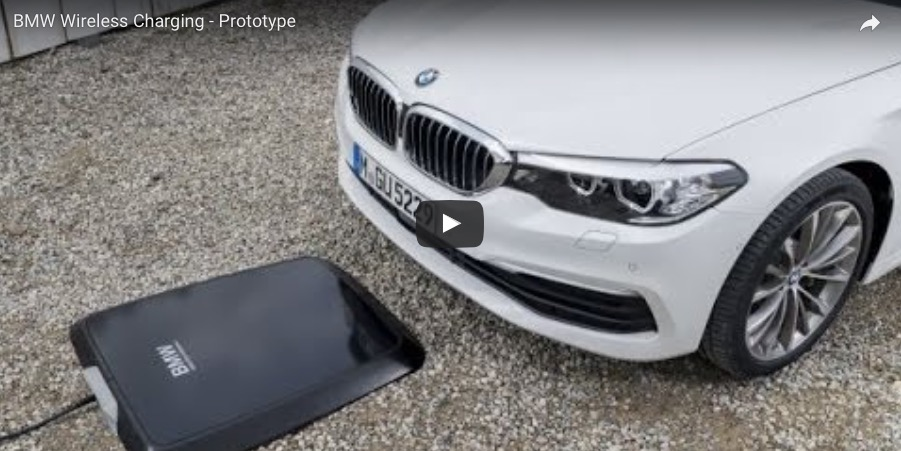 bmw previews wireless car charging for 530e iperformance. Black Bedroom Furniture Sets. Home Design Ideas