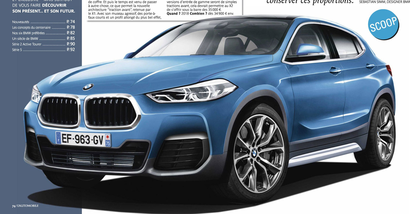 Production Bmw X2 Rendered