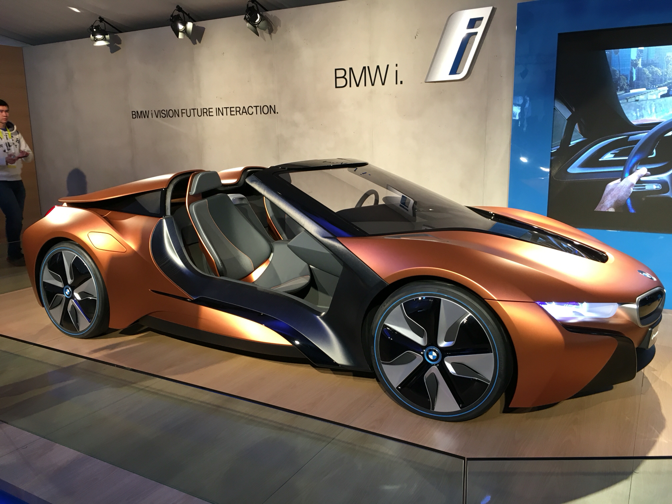 Saw Beautiful Production Bmw I8 Roadster On Display At Bmw