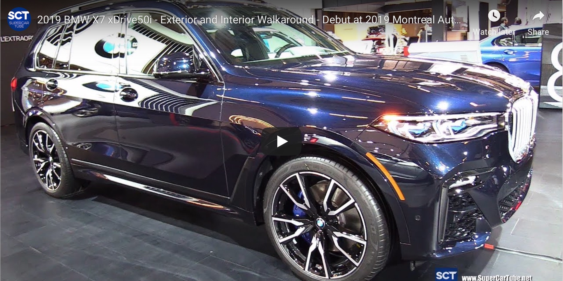 Video Bmw X7 50i M Sport In Carbon Black At The Montreal