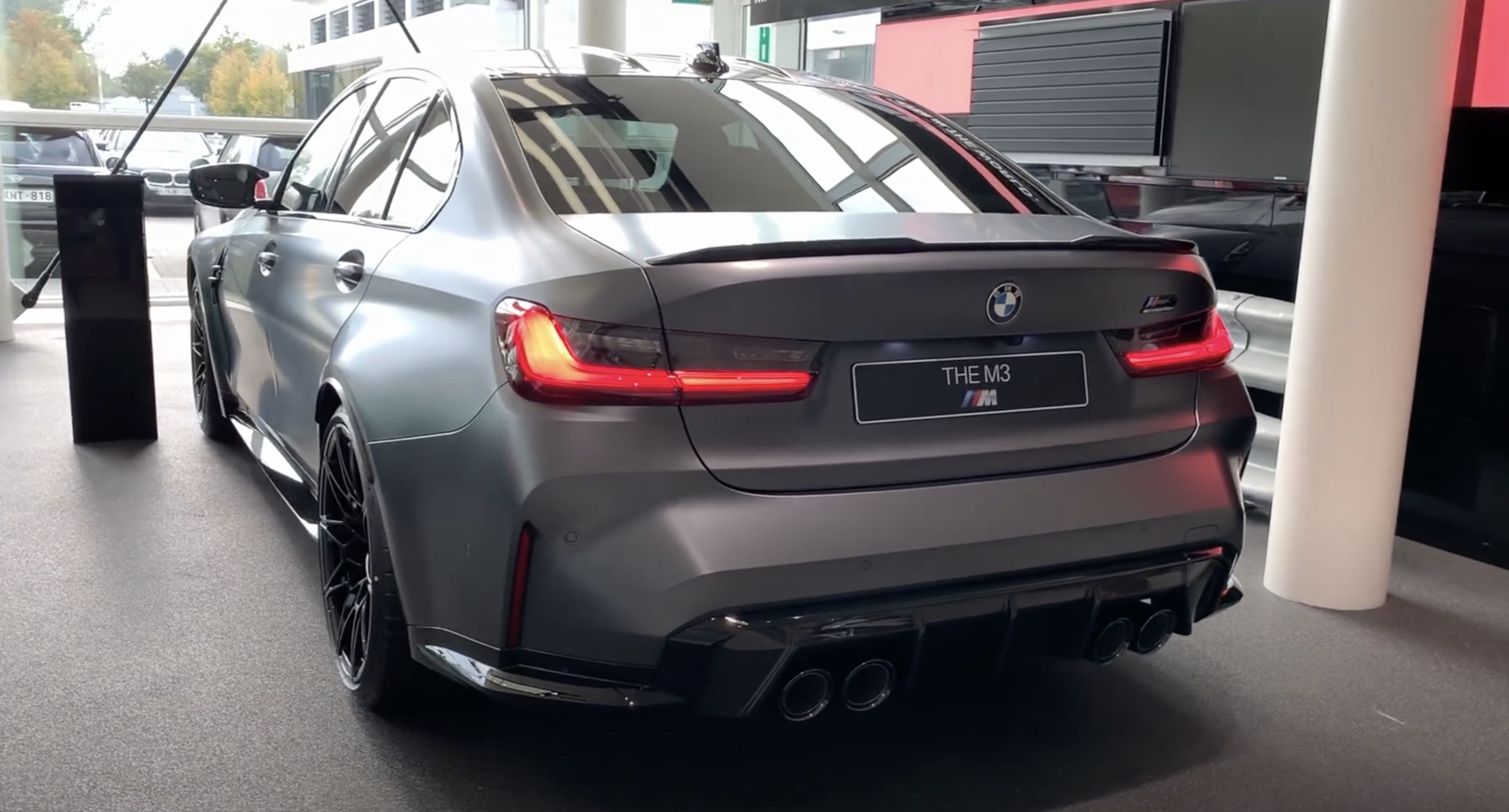 g80 bmw m3 grey frozen competition exhaust