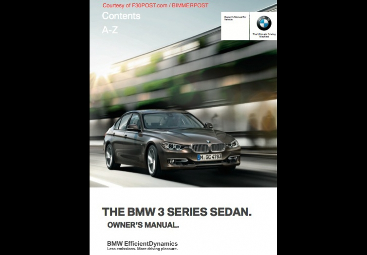 bmw f30 3 series owners manual for download  pdf