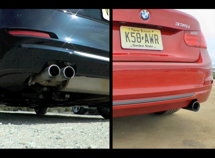 F30 335i N55 Vs 328i N20 Sound Comparison Video Track Flyby Engine And Exhaust