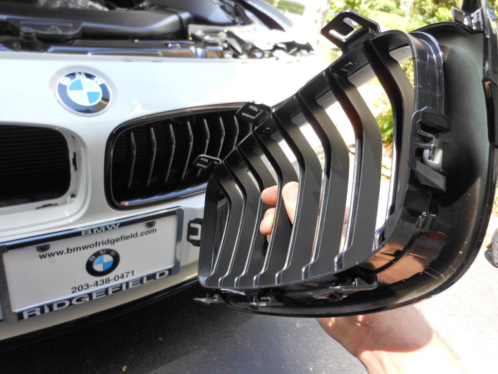 F30 328i 335i Front Kidney Grill Grille Removal And