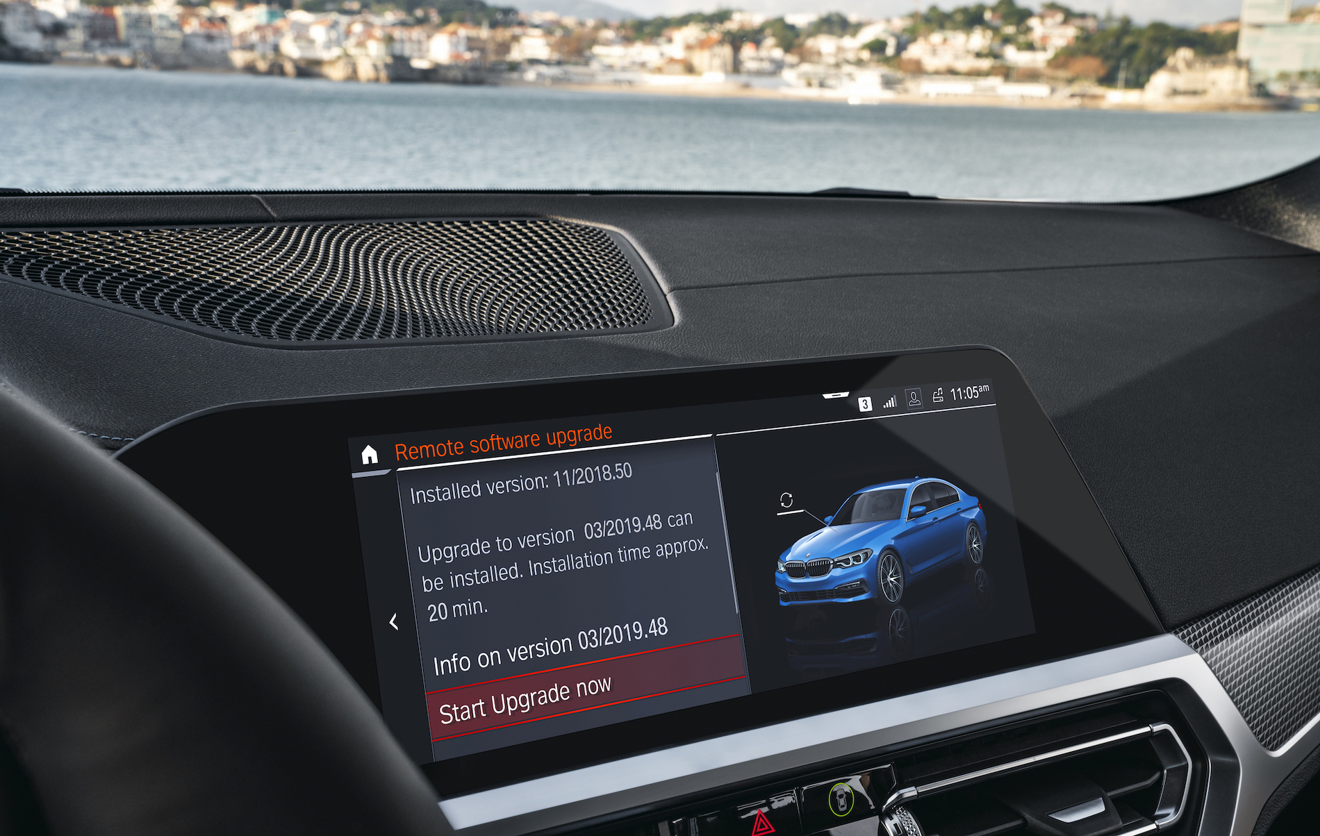 First Remote Software Upgrade  Over-The-Air installation for BMW